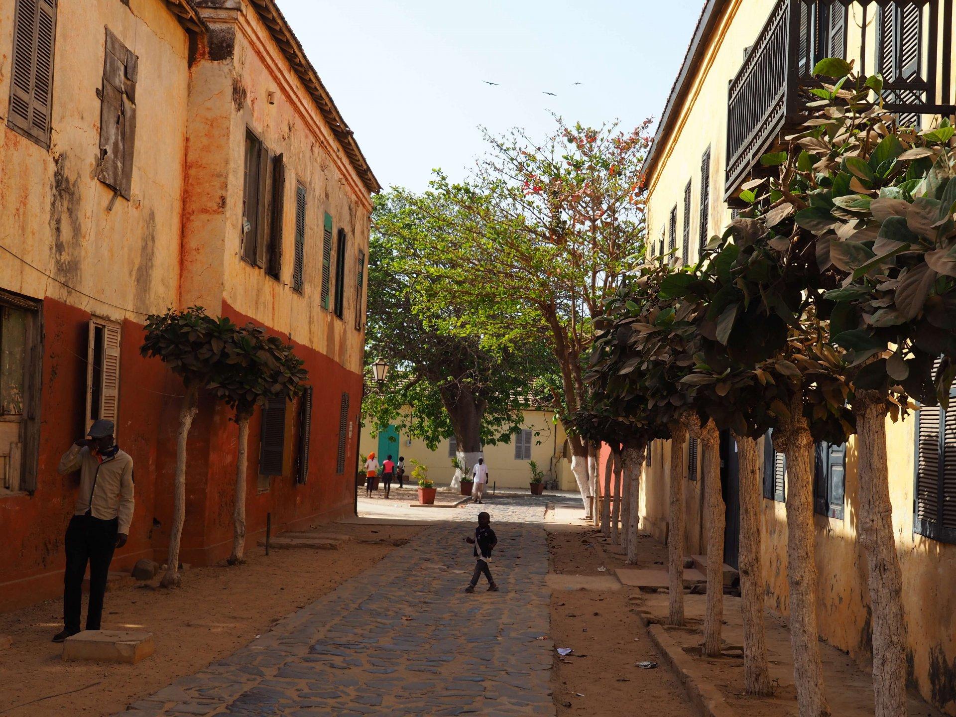 une rue de Gorée