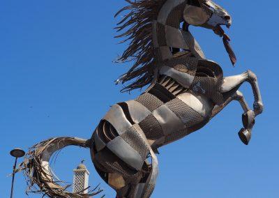 Sculpture du cheval de Lat Dior à Dakar