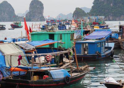 bâteaux de pêche à Hon gai