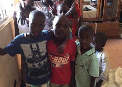 groupe d'enfants de Ndande