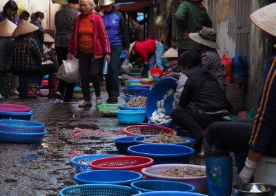 marché aux poissons de Hon Gai
