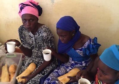 petit déjeuner des femmes à Ndande