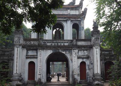 l'Entrée du temple de la littérature à Hanoï