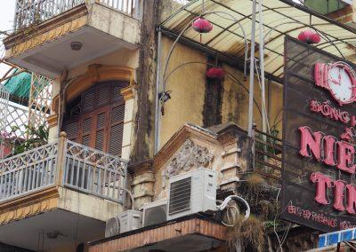façade dans le quartier historique de Hanoï