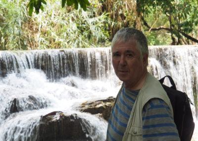au pied de la cascade de Kuang Si