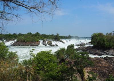 les chutes du Mékong dans le sud du Laos