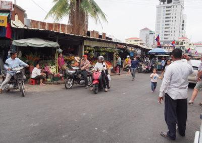 marché russe de Phnom Phen