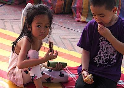 des enfants à Luang Prabang