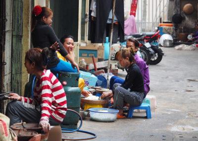 scènes de rue à Phnom Pehn