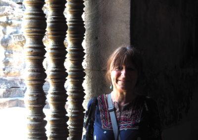 Brigitte à Angkor
