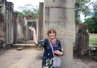 Brigitte sur le site d'Angkor