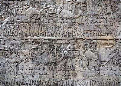 Bas relief d'un temple de Angkor