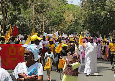 A la manif du 1er mai à Dakar