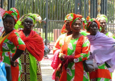 Femmes manifestantes à Dakar