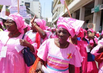 Manifestation de femmes à Dakar