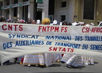 manifestation du 1er mai à Dakar