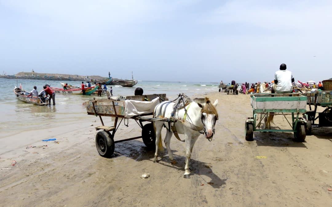 la plage de pêcheurs de Yoff