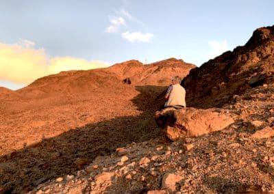 sur la montagne de Zagora