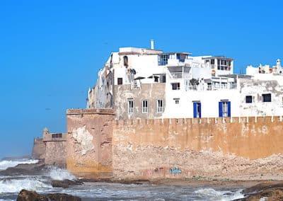 Essaouira, l'océan atlantique et les remparts