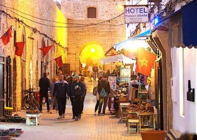 Essaouira dans ses remparts à la tombée de la nuit