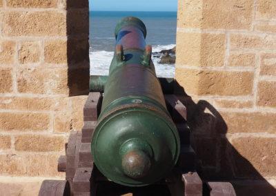 Canon dans les remparts de Essaouira