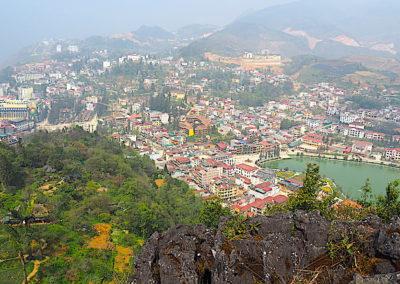 Sapa vu du mont Ham Rong