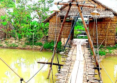 maison de bambou dans la région de Sa dec