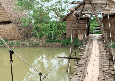 maison de bambou près de Sa dec