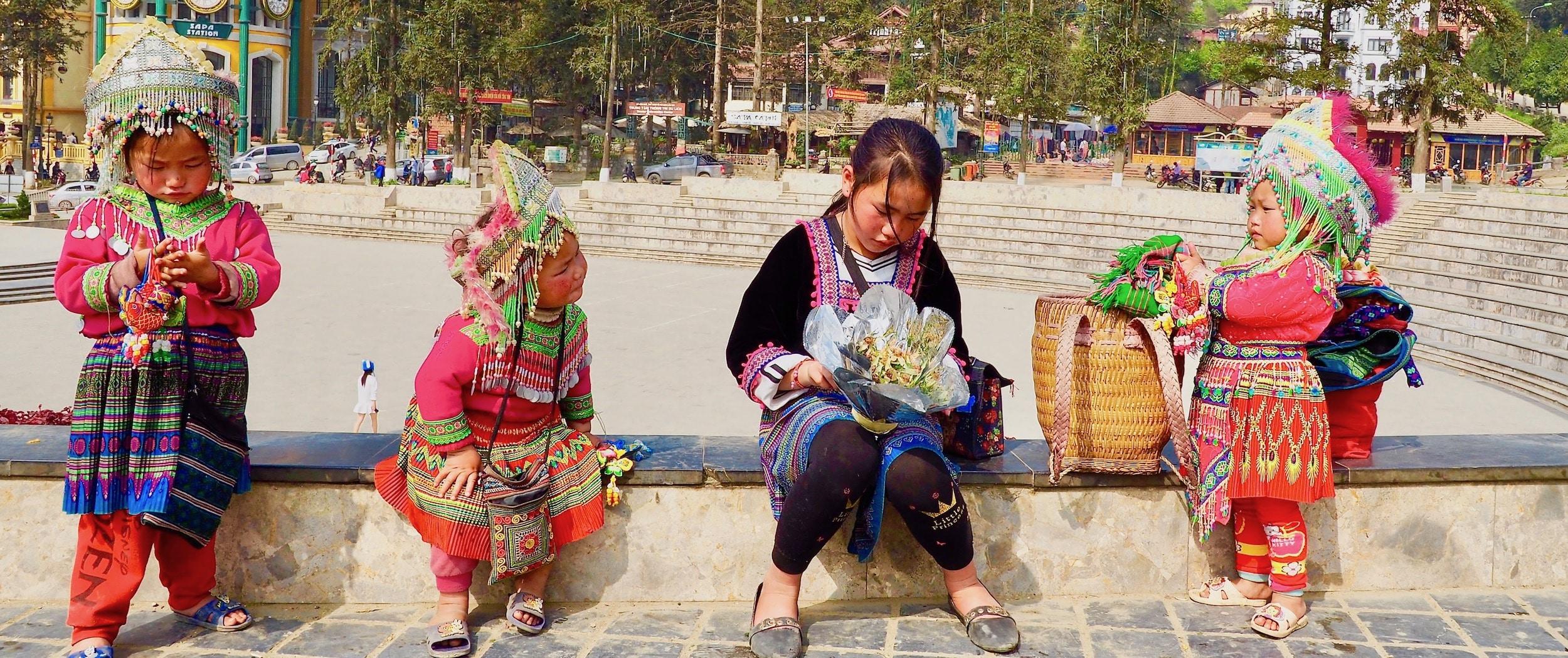 Des enfants Hmong à Sapa