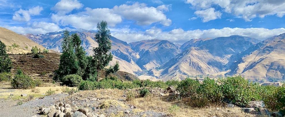 la vallée de Colca dans les Andes