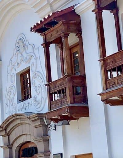 balcons époque coloniale à Cuzco