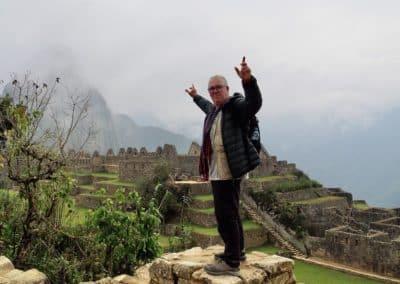 en haut du Machu Picchu