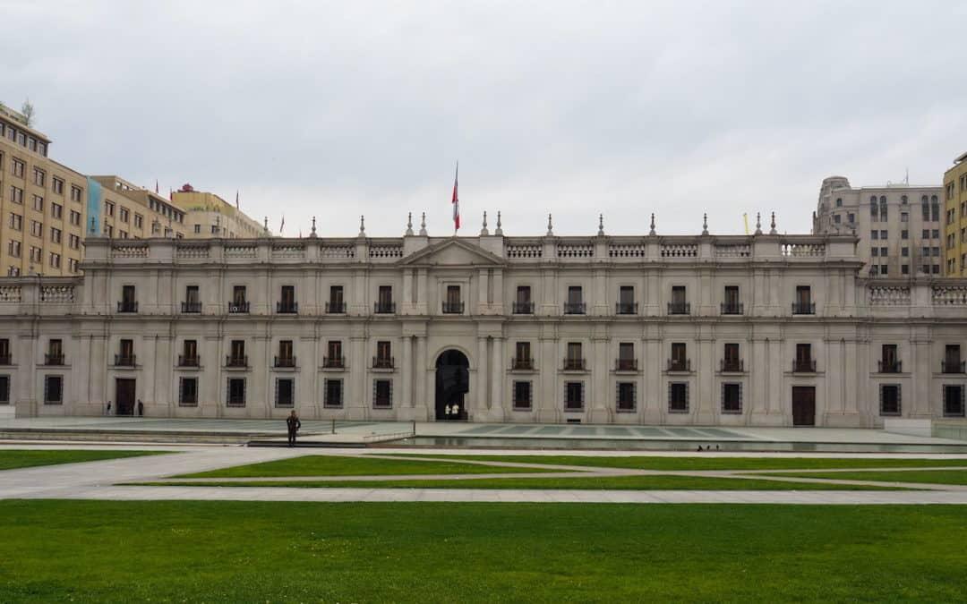 Le palais de la Moneda à Santiago