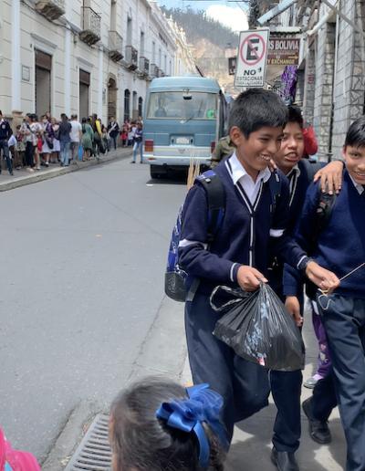 ambiance dans une rue de Sucre