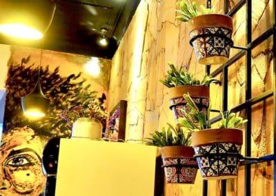 décoration au café Munay