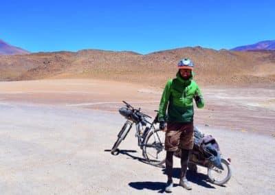 routard à vélo dans le Sud Lipez