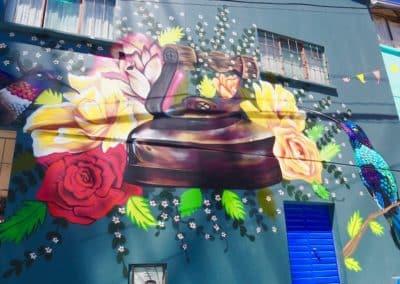 une façade peinte de Chullauma