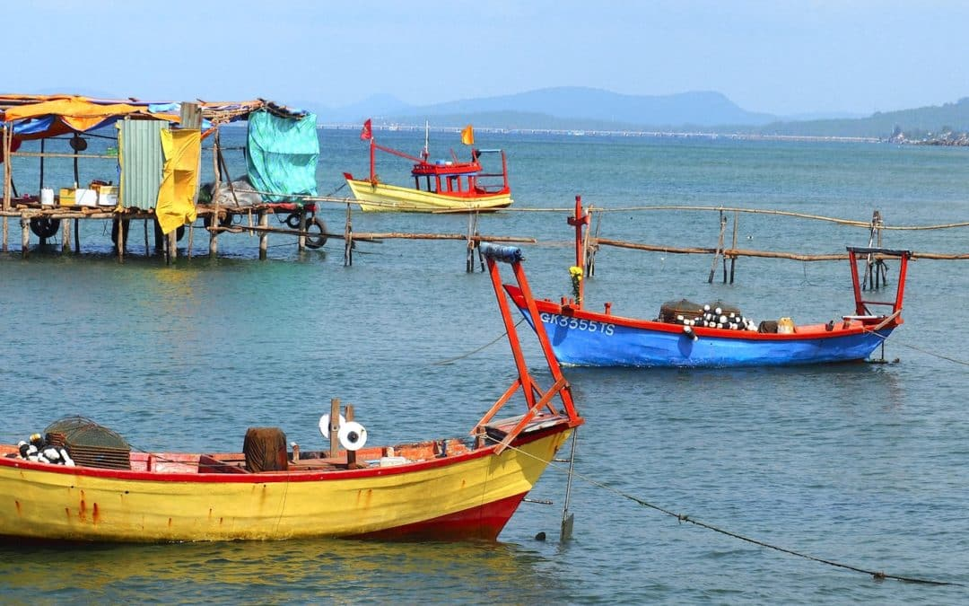 barques - Île de Phu Quoc