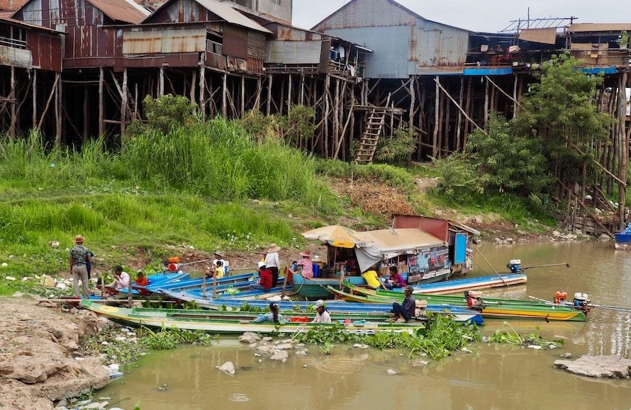 Kampong Chhnang au bord du Tonle sap