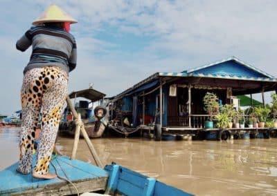 la batelière du Tonlé Sap