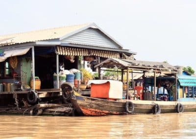 habitation flottante du Tonle Sap