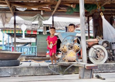 les enfant du Tonlé Sap