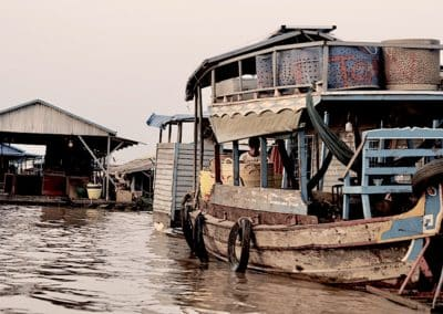 village flottant de Kampong Chhnang