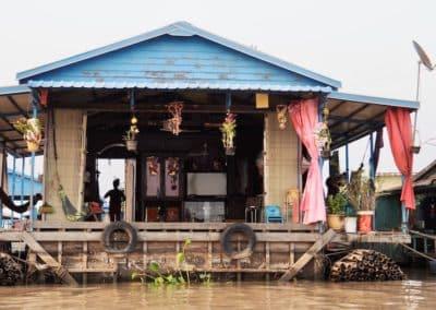 habitation sur le Tonlé Sap