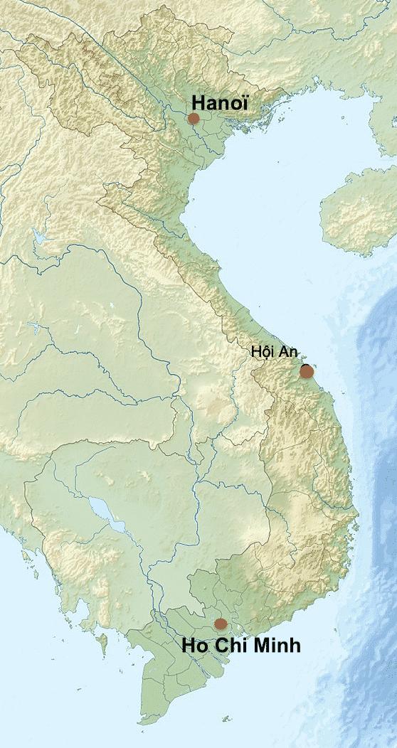 situation géographique de Hoi An