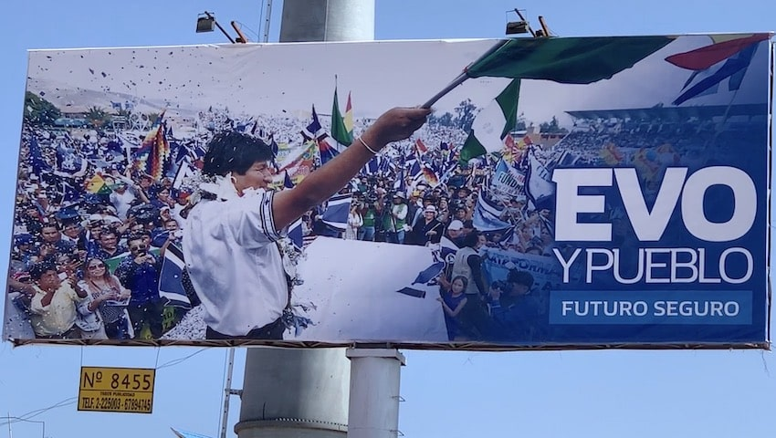 affiche électorale bolivienne