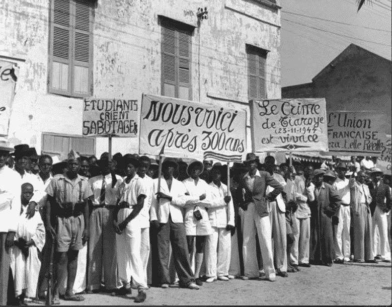 manifestation au temps de la colonisation du Sénégal