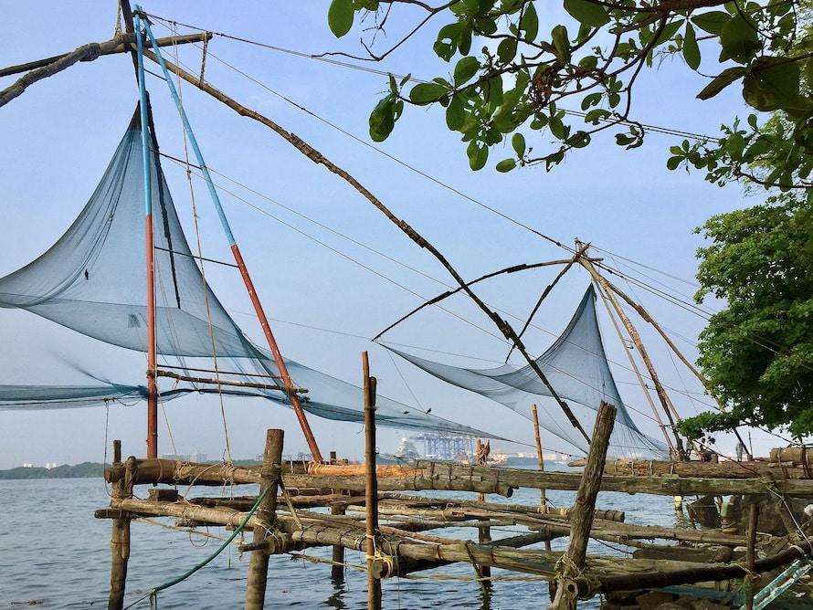 filet de pêche chinois à Cochin