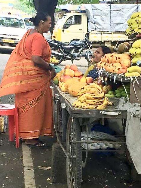 vendeuse de fruits à T-Nagar