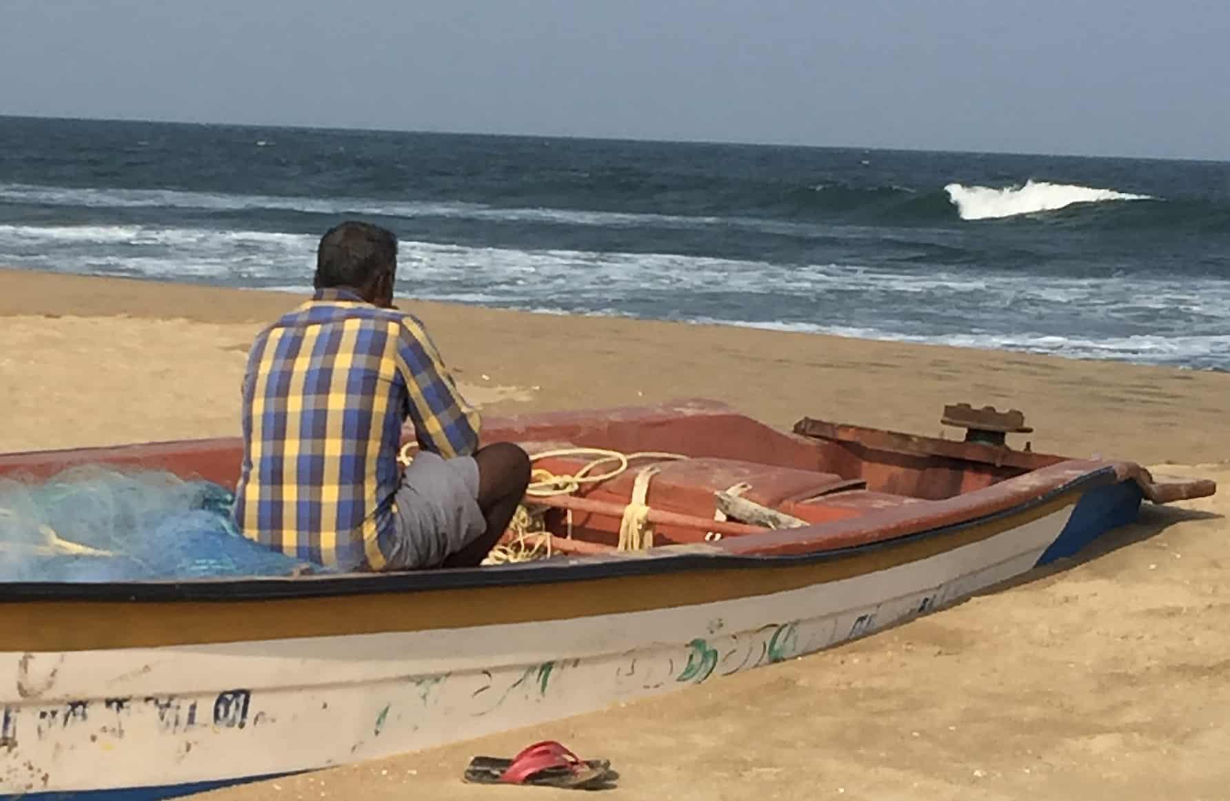 pêcheur à Mahabalipuram